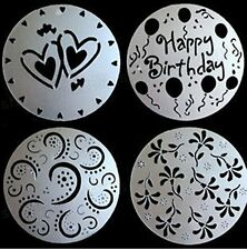 Set Of 4 Decorative Baking Cake Stencils Tool Kit