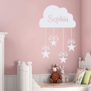 Image Is Loading S Name Decal Kids Wall Decals Nursery Cloud