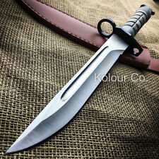 "14"" Military Survival Rambo Fixed Blade Hunting Knife Bayonet Tactical Bowie"