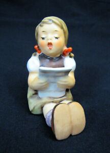 Goebel Hummel Figurine; Girl Singing Sheet Music #189; Germany