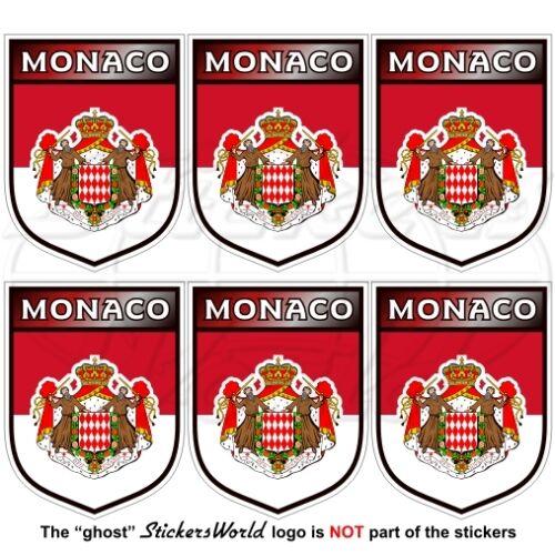 MONACO Principato Scudi Adesivi in Vinile per Cellulare 40mm Mini Sticker x6