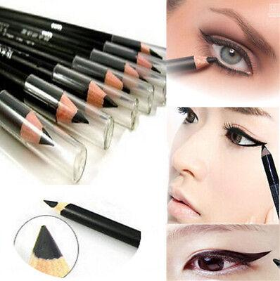 2Pcs BLACK EyeLiner Smooth Waterproof Cosmetic Beauty Makeup Eyeliner Pencil HS