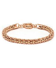 NEW! Sevil Designs Gorgeous Rose 18K Gold Plated Popcorn Mesh Wrist Bracelet