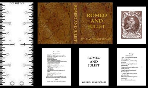 1:12 SCALE MINIATURE BOOK ROMEO AND JULIET MODIFIED SHAKESPEARE