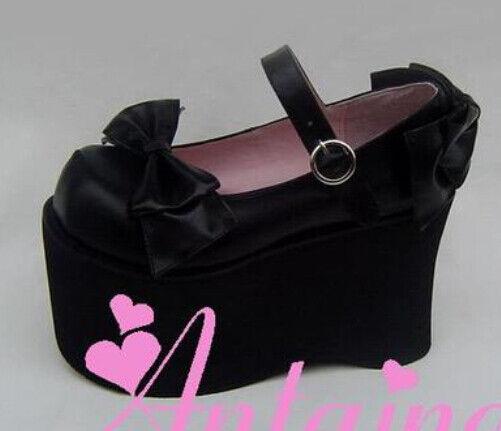 Punk Gothic Lolita sweet bow cosplay shoes high platform 9026-12 custom made