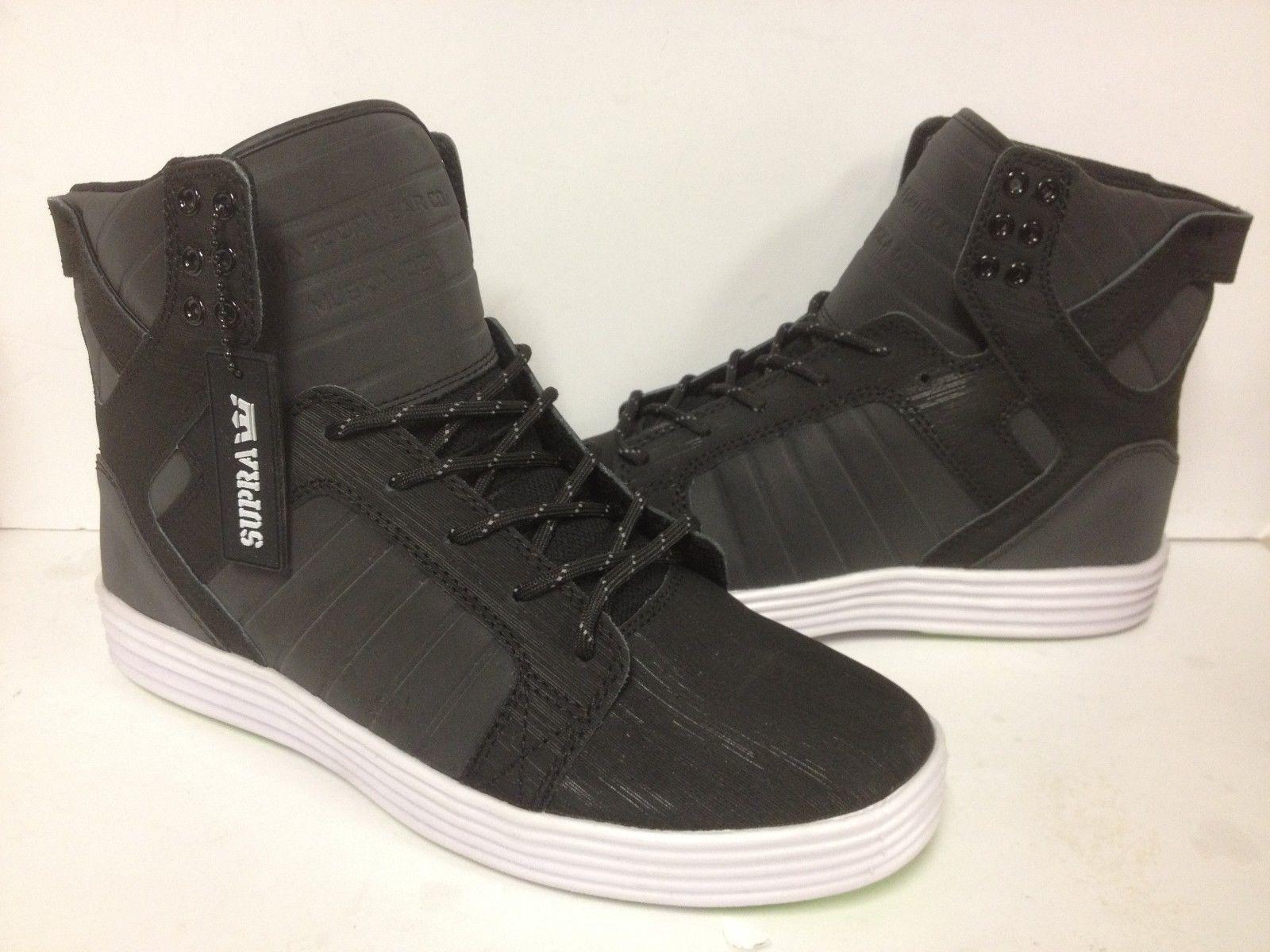 """S81003 Supra Skytop Lite """"Addams"""" Skate Shoe Black/White Sizes 7.5-10 New In Box"""