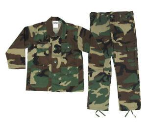 Image is loading Kids-Woodland-BDU-Uniform-Set-Kids-Military-Halloween-  sc 1 st  eBay & Kids Woodland BDU Uniform Set - Kids Military Halloween Costume ...