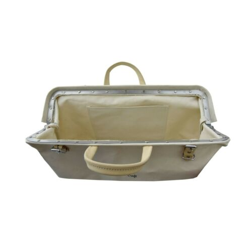 """Style n Craft 97516-20/"""" Mason/'s Tool Bag in Canvas /& Suede Leather Combination"""