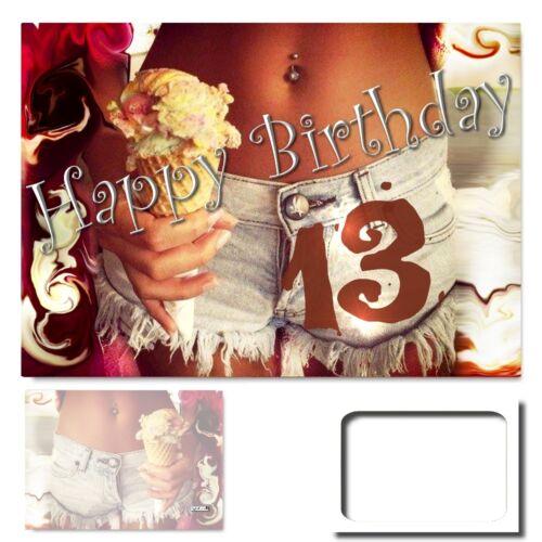 anniversaire Félicitations Carte énorme XXL a3 cartes d/'anniversaire #017 Digitaloase 13