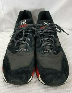 separation shoes 4301c 07670 Details about New Balance 998 Shoes Men Sz 13 D Black Red White M998BR  Abzorb Suede USA $275