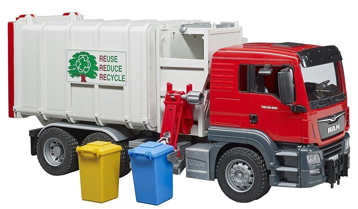 BRU3761 - Camion poubelle MAN TGS  2 bacs inclus Jouet BRUDER - 1 16
