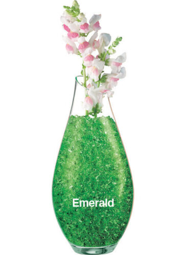 Green Decorative Water Storing Gel Crystal Accents Emerald 30g Pack