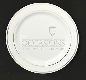 Bulk, Heavyweight Wedding disposable party Dinner / Luncheon round plates 9''