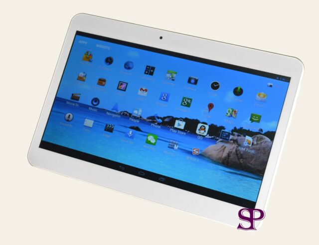 10.1 Google Android 4.4 Tablet PC Dual Sim 16 GB QUAD CORE 2GB RAM 2Cam 3G WCDMA