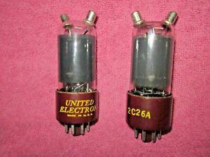 Pair-2C26A-10-Watt-Triode-Audio-Radio-Vacuum-Tubes