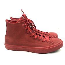 save off 311a9 6fde1 Converse Chuck Taylor CTAS II 2 Hi Mens SZ 10.5 Shoes Sneakers Red Gum  155764C