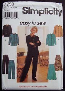 UNCUT VINTAGE Simplicity SEWING Pattern 7753 Easy Top Skirt Pants 7753 OOP NEW