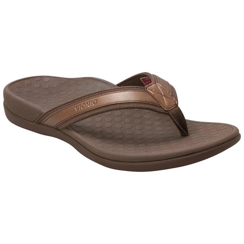 Vionic Tide II Bronze Metallic Toe Post Women's sizes 5-12 NEW