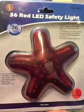 Star Shaped 36 Red LED Car Safety Light  NEW Duo Function Magnetic