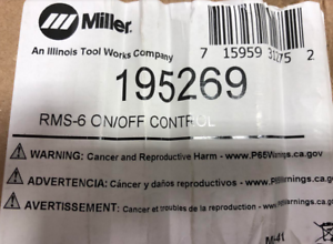 MILLER 195269 RMS-6M On//Off Control for Maxstar 150 STH /& 150 STL