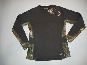 UNDER-ARMOUR-Wool-Blend-EXTREME-BASE-Realtree-Camo-Hunting-SHIRT-Womens-XL-NEW