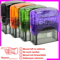 Return To Sender Self Inking Rubber Stamp In Red Ink Shiny S844