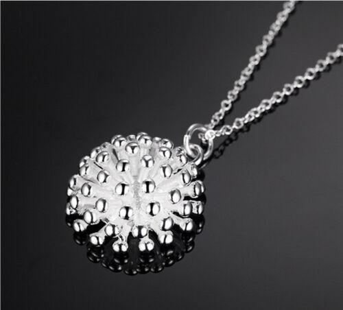 925 Sterling Silver Plating Women Fashion Jewelry Fireworks collier pendentif Hot