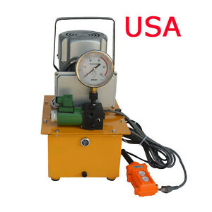 110V-Single-Acting-Remote-Controlled-Valve-Manual-Hydraulic-Pump-DBD750-D1-New