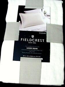 FIELDCREST Lightweight Linen Pillow Sham Cream King