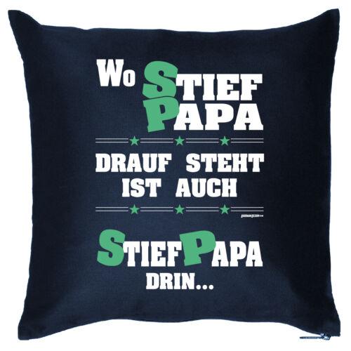 Cooles Geschenk Stiefvater Kissen Geburtstag Vatertag Geschenkidee Stiefpapa