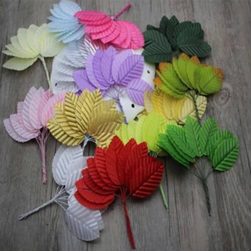 30pcs Artificial Flower Leaf-shaped Leaves For Wedding Decor DIY Wreath Gift