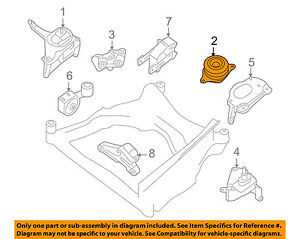Engine Motor Mount Rear For:07//13 Nissan Altima L4 2.5L