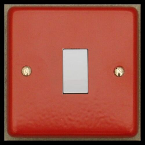 GLOSS RED  USB PLUG SOCKETS STANDARD OR LED DIMMER LIGHT SWITCHES WHITE TRIM