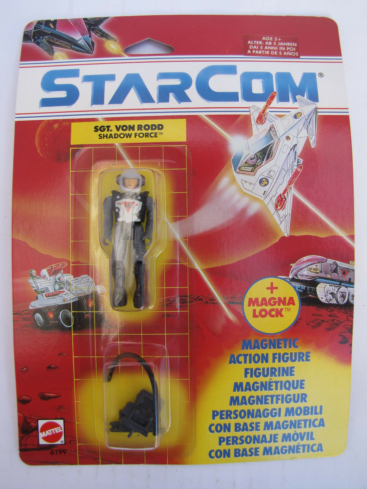 European Exclusive Starcom 6199 Sgt Von Von Von Rodd Mattel 1990 MOC NOS Excellent 8fc52d