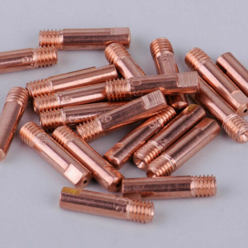 20* Thread M6 Contact Tips 0.9mm Gas Nozzle Copper For MB-15AK MIG Welding Torch