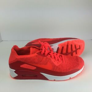 Nike Air Max 90 Ultra 2.0 Flyknit Red Running Shoe 875943