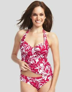 LADIES-RED-FLORAL-TANKINI-TOP-Tobago-Figleaves-NEW