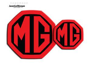 MG-ZS-MK2-LE500-Style-Front-Rear-Insert-Badge-Set-59mm-95mm-Black-Red-Badges