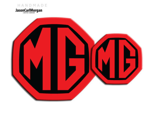MG ZS MK2 LE500 Style Front Rear Insert Badge Set 59mm//95mm Black Red Badges