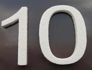 Zahlen Deko Styroporbuchstaben Styroporzahlen Styropor 3d Ebay