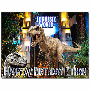 Jurassic World Dinosaur Edible Icing Image Cake Topper ...