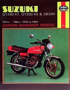 Sonstige Suzuki GT 250 1975 Haynes Service Repair Manual 0120 Auto ...