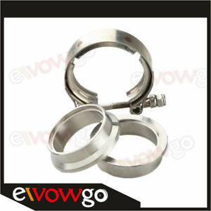"""3.5/"""" Self Aligning /""""Male//Female/"""" V-Band Clamp CNC Stainless Steel Flange Kit"""