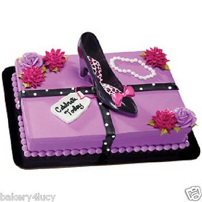 STILETTO HIGH HEEL SHOES CAKE KIT DECORATION TOPPER CUPCAKE FASHION DIVA LAYON