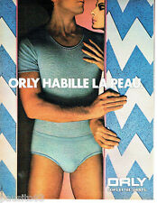 PUBLICITE ADVERTISING  016  1981  ORLY  slip sous vetements  tee-shirt bleu