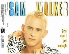 "SAM WALKER - 5""CD - Just Can't Get Enough (4 Mixes) Pic Disc. UK"