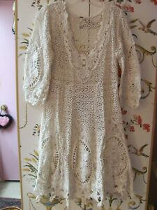 Details About Nwot Free People Lace Dress Ivory Partyweddinggarden Party Size 4