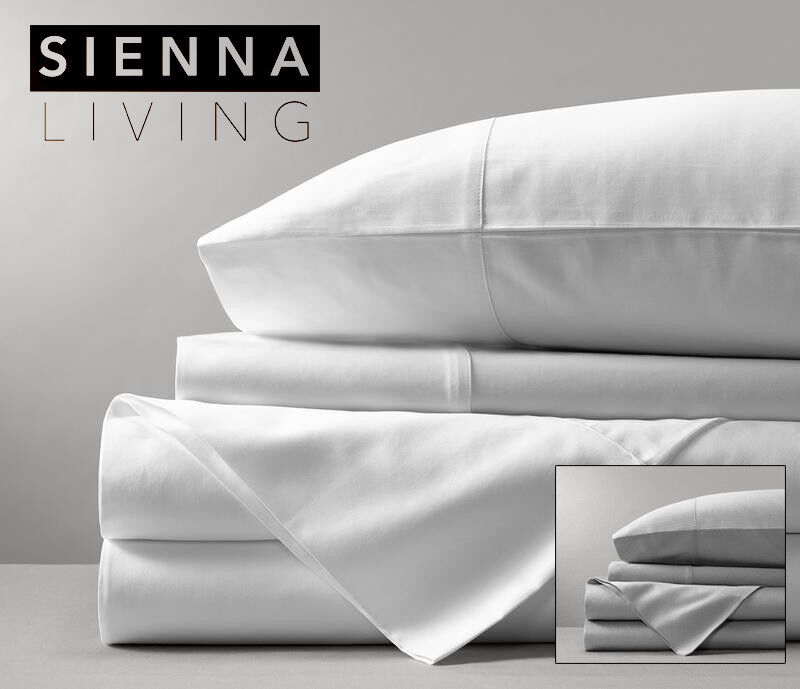 Sienna Living 1000 Thread Count Egyptian Cotton Fitted Sheet + 2 PCs MEGA Queen