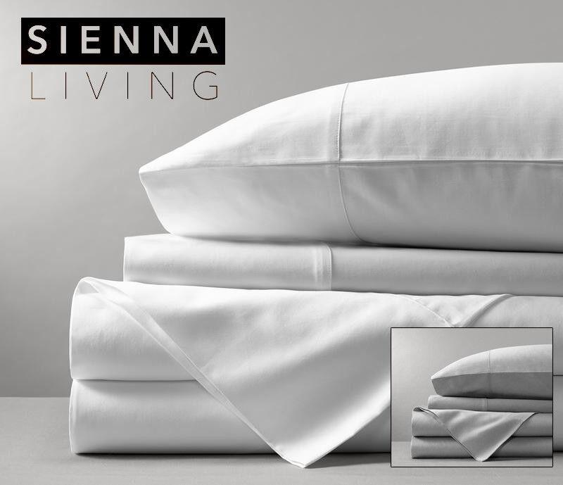 Sienna Living 1000 Thread Count Egyptian Cotton Sheet Set KING SINGLE Größe