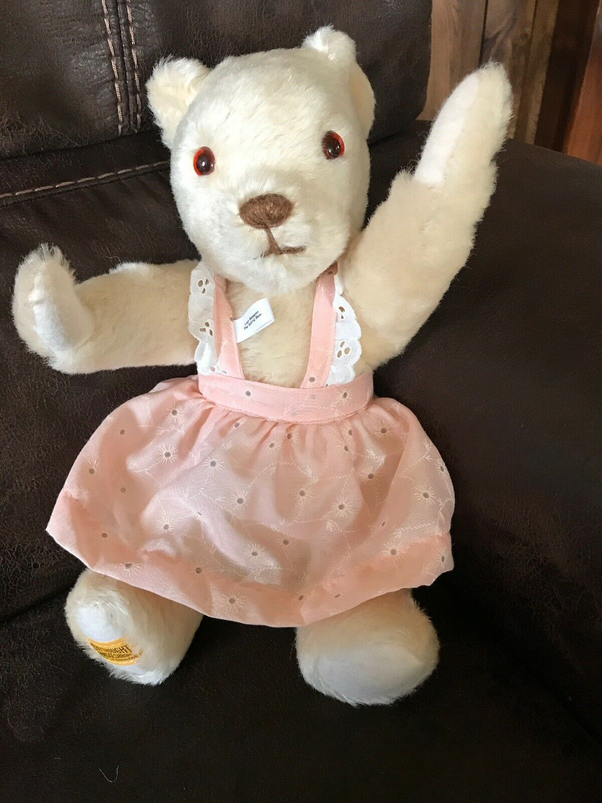 Merrythought Vintage Teddy Bear London Gold Fully Jointed 14  Plush Toy 302 1000